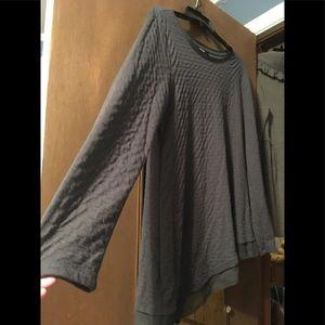 Vera Wang Gray Assymetrical Sweater